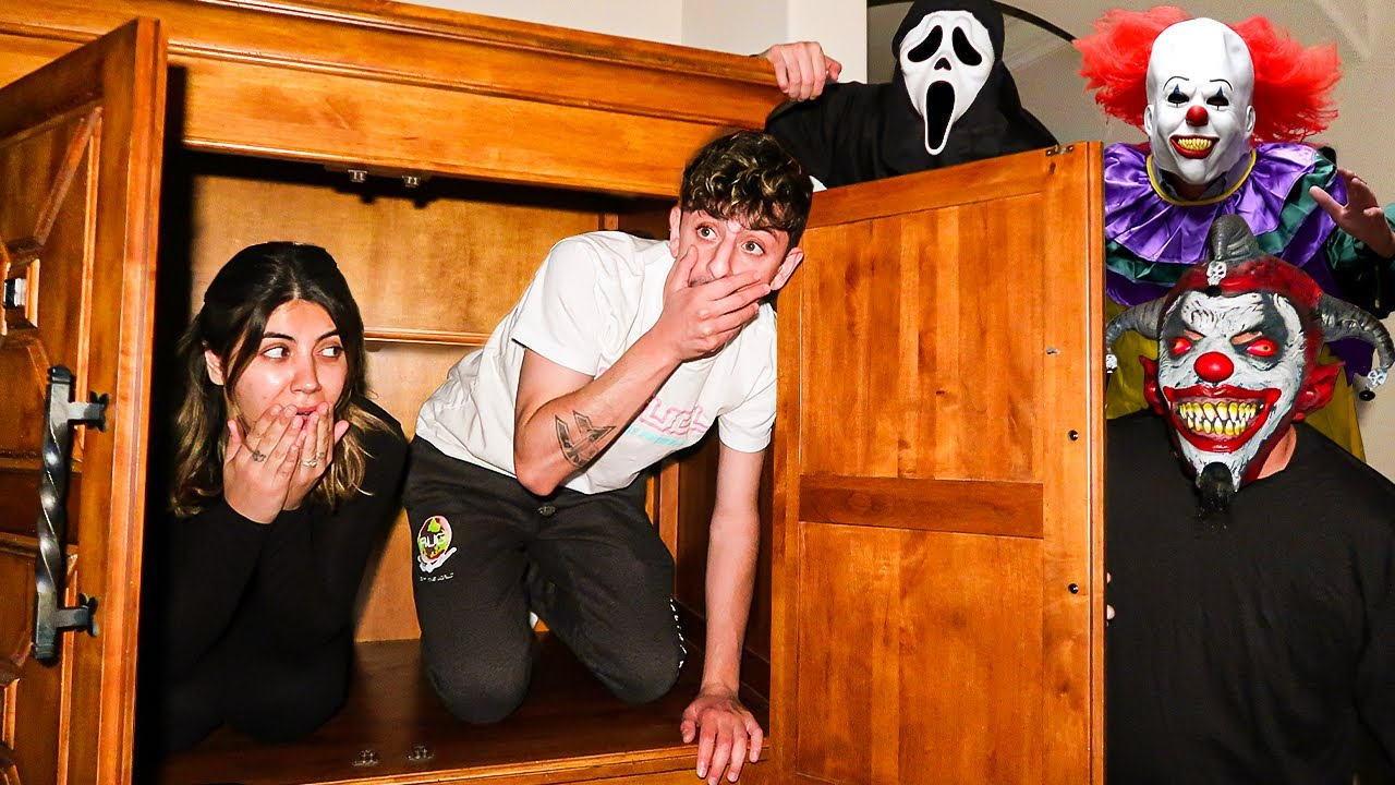 HIDE AND SEEK AGAINST CLOWNS AT 3AM!! **SCARY**