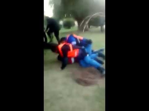 Disturbios en Plaza Colón