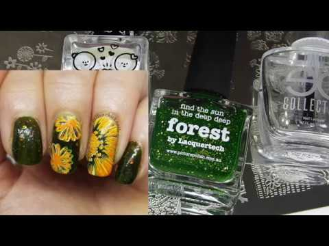 Stamping Nail Art Tutorial | Secret Mani Swap Facebook Group Collab | judinkanailart ✓ thumbnail