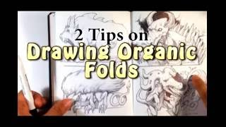 2 Tips on Drawing Organic Folds - Easy Things to Draw