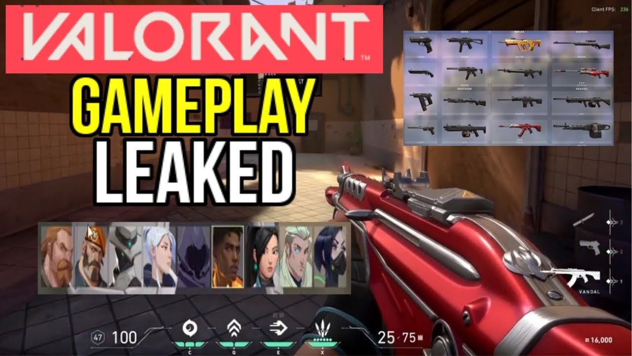 VALORANT BETA GAMEPLAY LEAKED! ALL CLASSES, WEAPONS, TRAINING MODE (RIOT GAMES FPS)  - Valorant