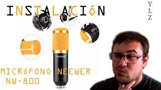 instalacin micrfono neewer nw 800  espaol   hd   soluciones chapuceras