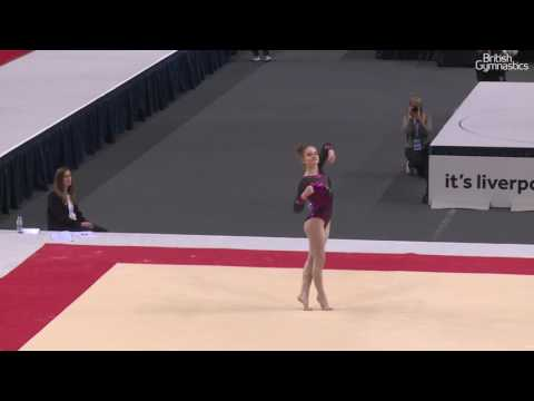 Alice Kinsella SILVER Floor 2017 British Gymnastics Championships Women's Senior All Around