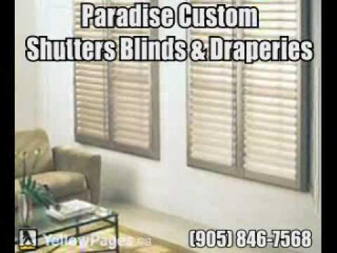 Paradise Custom Shutters Blinds & Draperies - Brampton