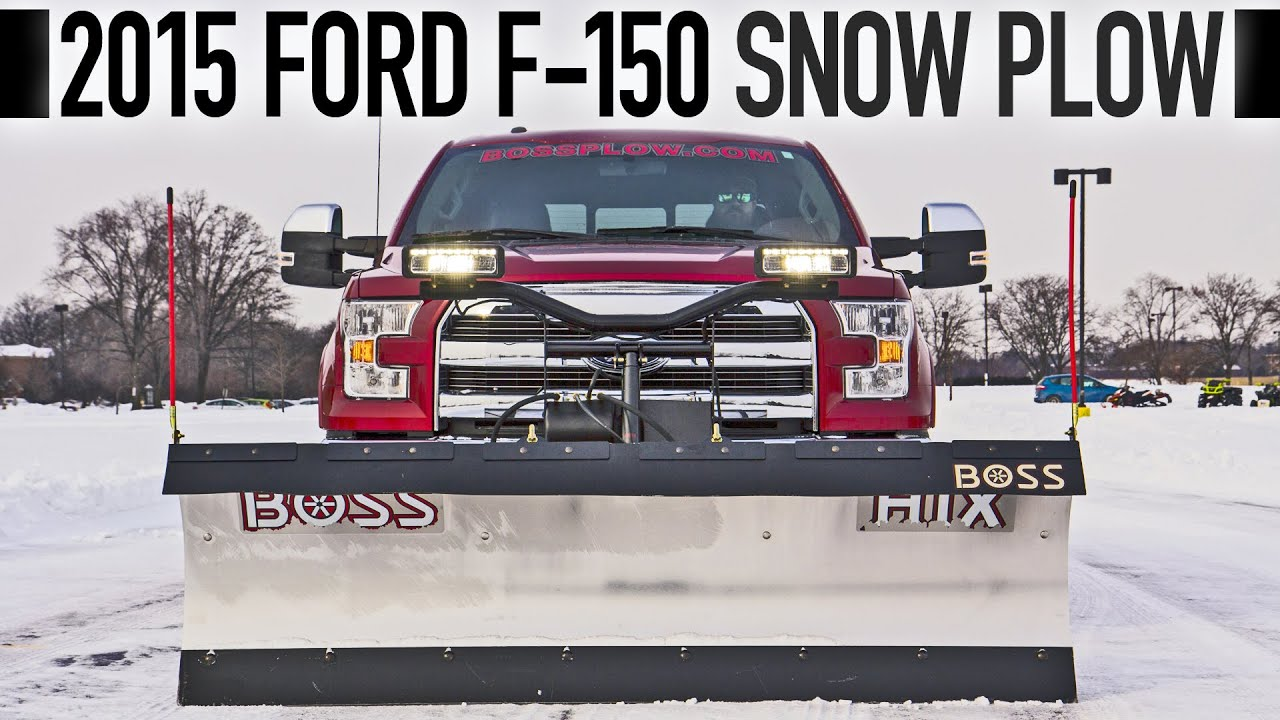 2015 Ford F 150 Snow Plow Youtube