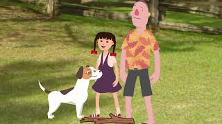 How to take care of your dog for kids in 5 steps Cartoon