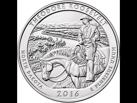 Unboxing 2016 5 Oz ATB Theodore Roosevelt National Park Silver Coin ISN MLM