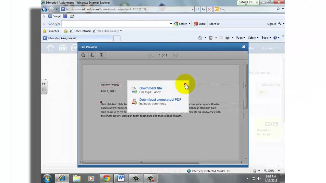 Edmodo: Annotation for Students - YouTube