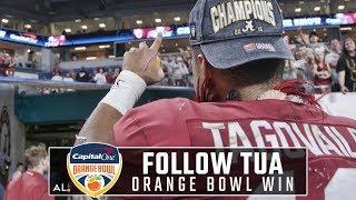 Follow Tua Tagovailoa off the field after Alabama's Orange Bowl win over Oklahoma