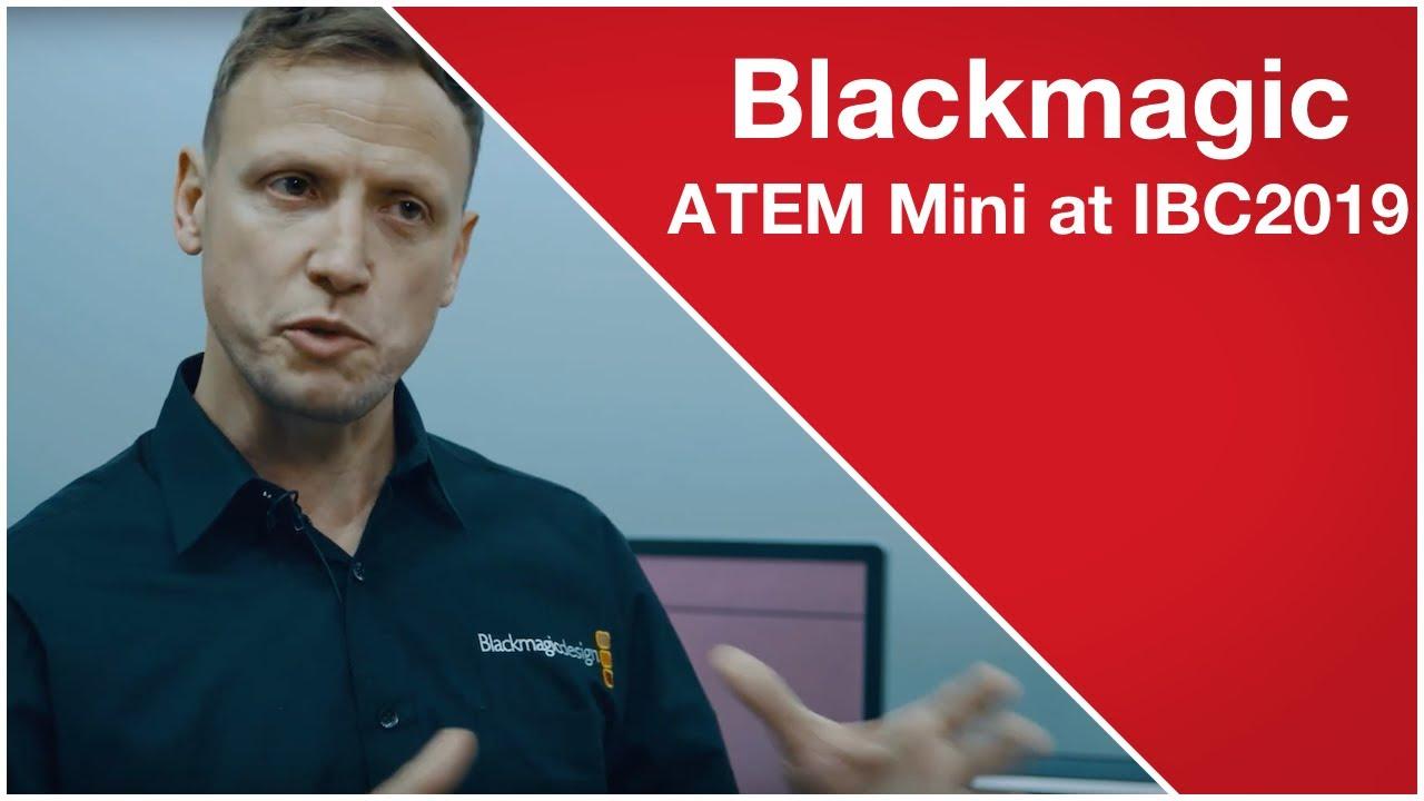 Blackmagic Design S Atem Mini At Ibc2019 Youtube