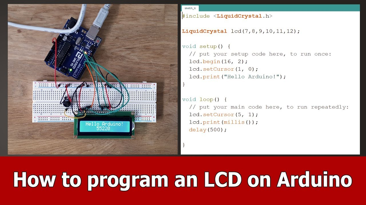 How to setup and program an LCD Display Arduino Tutorial