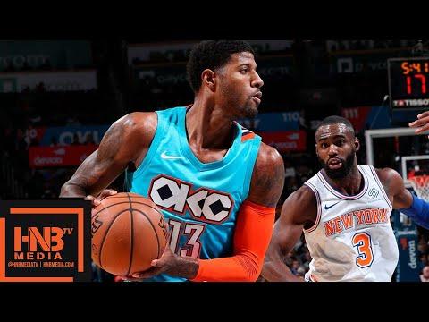 Oklahoma City Thunder vs New York Knicks Full Game Highlights | 11.14.2018, NBA Season
