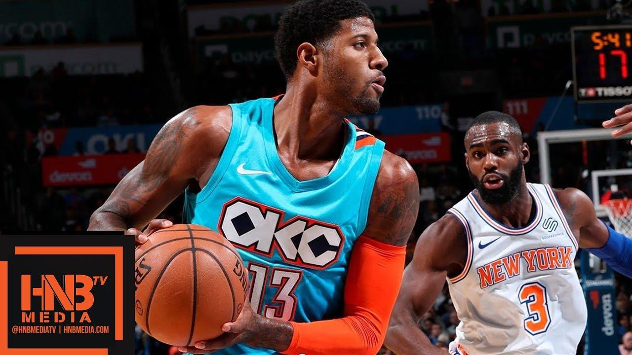Oklahoma City Thunder vs New York Knicks Full Game Highlights   11.14.2018, NBA Season