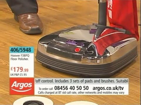Hoover F38PQ Floor Polisher Being Demonstrated on Argos TV