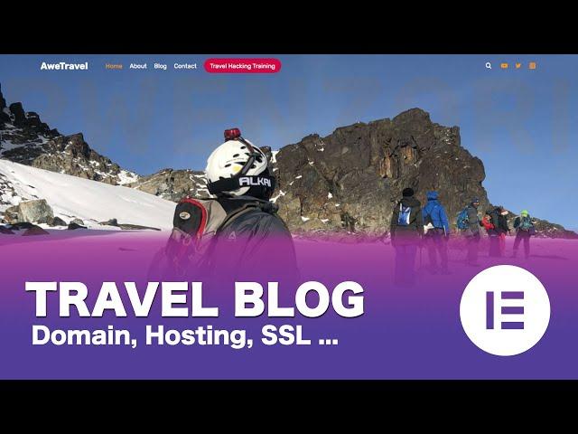 [Part 02/15] Make a Free WordPress Travel Blog Using Elementor