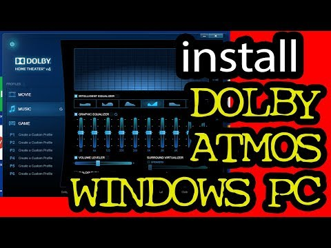 How to install Latest Dolby Atmos | home theatre/Advanced audio on any pc windows laptop