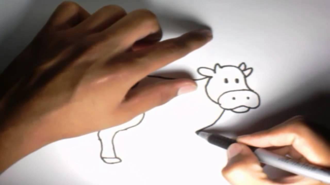 Como dibujar una Vaca l How to draw a Cow  YouTube