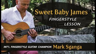 Sweet Baby James ( James Taylor ) Fingerstyle Guitar Lesson by Mark Sganga