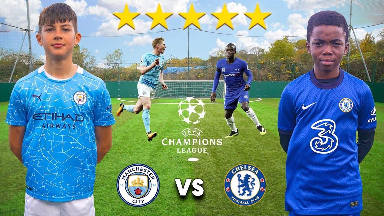 Kid KEVIN DE BRUYNE vs Kid KANTE (MAN CITY vs CHELSEA CHAMPIONS LEAGUE 2021) - Football Competition