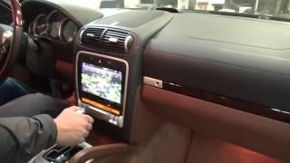 Подключение штатной камеры заднего вида на Porsche Cayenne