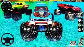 Cars Games - Kids Games Cars - Monster Truck Water Surfing: Truck Racing Games  - Android GamePlay
