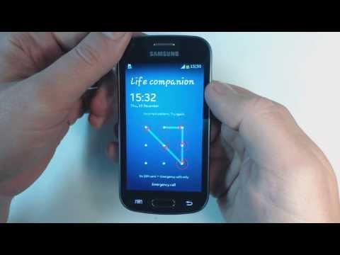 Samsung Galaxy Trend Plus S7580 - How to remove pattern lock by hard reset