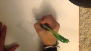 How to draw a devil/angel heart