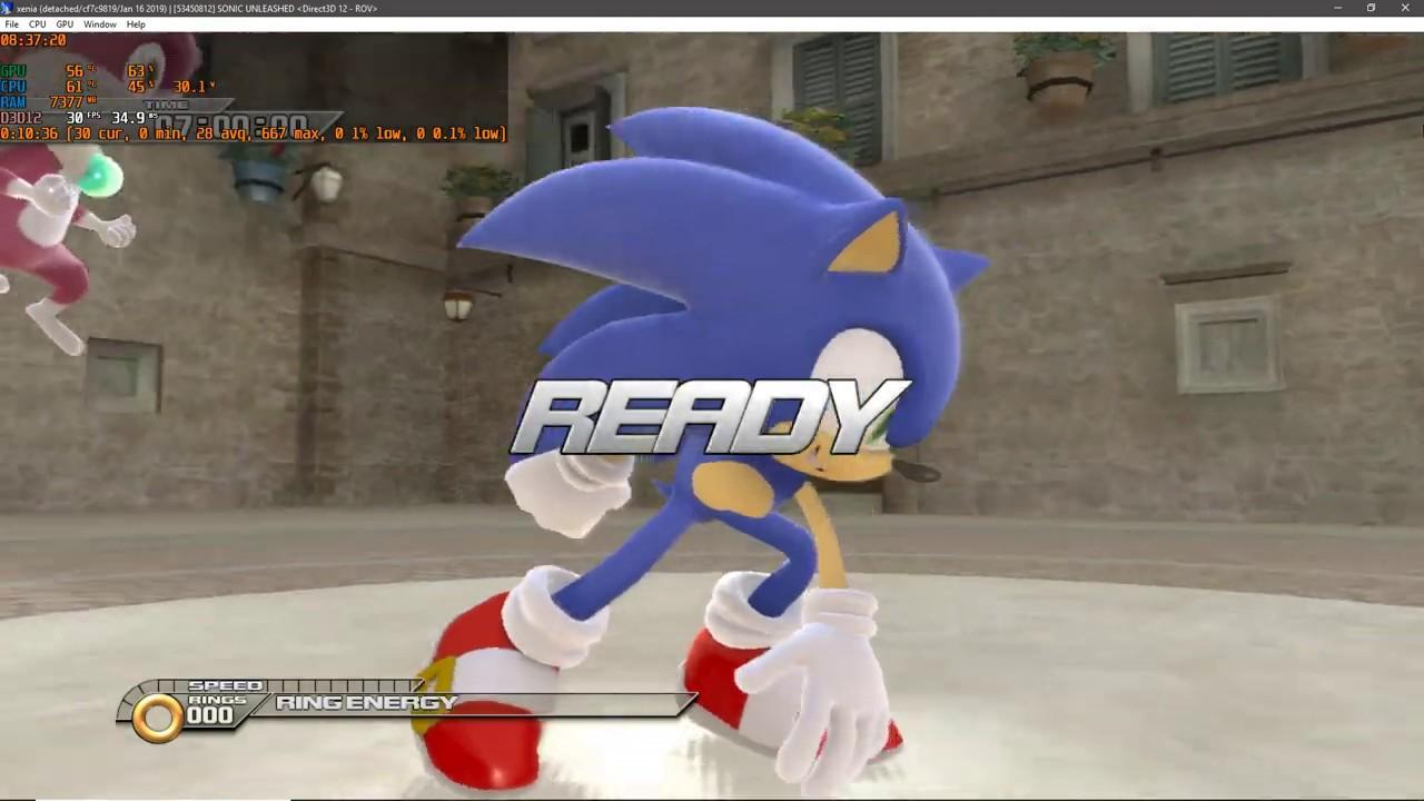 Xenia Xbox 360 Emulator- Sonic Unleashed Ingame/GAMEPLAY