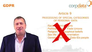 Processing Special Categories of Data - Part 6 of our guide to GDPR in 1 minute bites