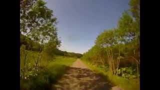 北海道の函岳付近の林道@XR650R 緒方剛志 検索動画 11