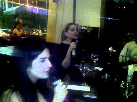 Allegra & Nathalie Singing @ Black Pearl Kaslik ( Karaoke) 09 220179