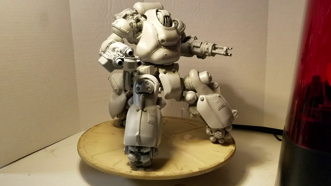 360 turntable of 3d printed fallout 4 sentry bot youtube