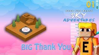FTB Sky Adventures EP01 - A New Start and 2000 Sub Thanks