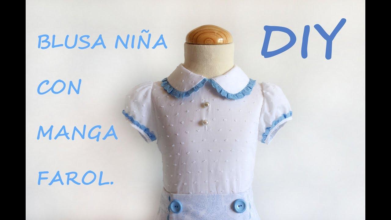 Como hacer una Blusa de niña con manga farol. En tienda ...