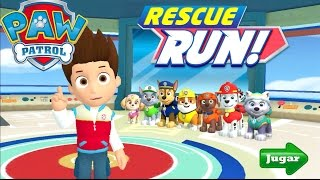 Paw Patrol Rescue Run Minijuegos Gameplay Español