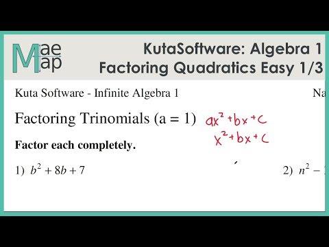 KutaSoftware: Algebra 1- Factoring Quadratic Polynomials ...