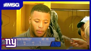 Saquon Barkley Feels Good Returning From Injury But Still Not Satisfied   New York Giants