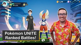 Pokémon UNITE Ranked MOBA Matches with Cinderace