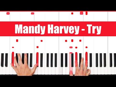 Try Mandy Harvey Piano Tutorial - CHORDS