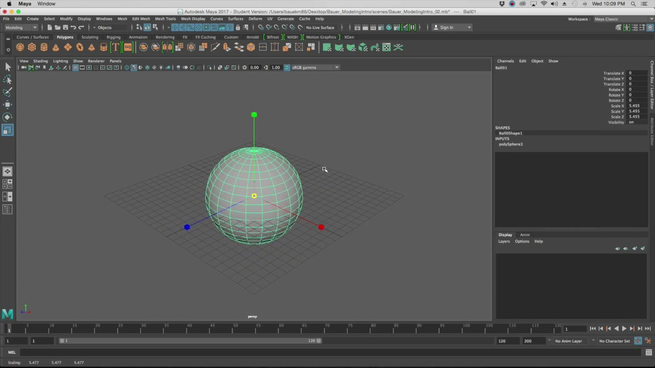 Intro to 3D Modeling