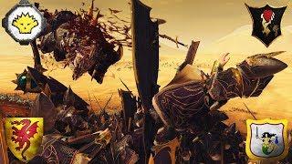 Gor-Rok, Bohemond Beastslayer, Tullaris Dreadbringer Free for All at the Warpstone Crater