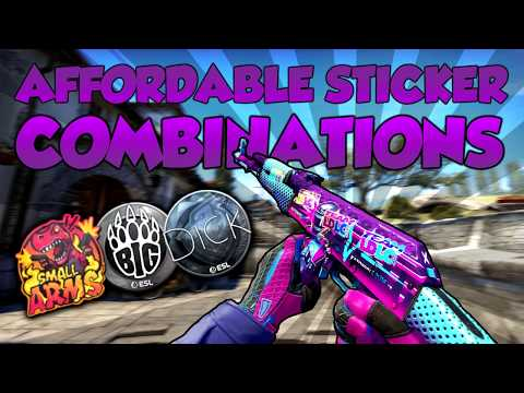 CS:GO - AFFORDABLE  & FUNNY STICKER COMBINATIONS [2019] 🔥