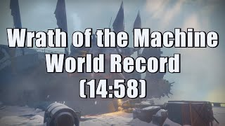 Wrath of the Machine World Record Speedrun (14:58)