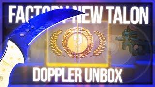 CS:GO TALON DOPPLER UNBOX (FIRST KNIFE IN 1 YEAR) thumbnail
