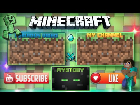 A minecraft outro template speed art funnydog tv for Minecraft outro template movie maker