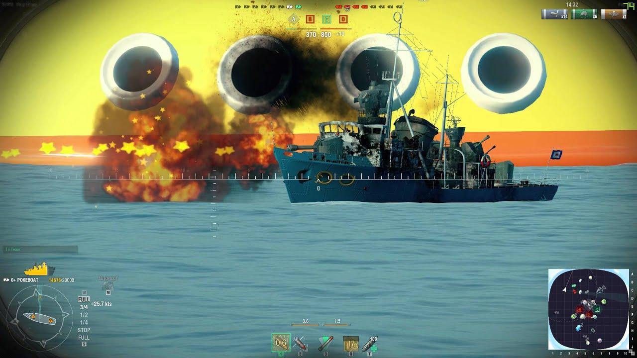 World Of Warships April Fools Update   Bathtub Battles