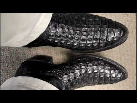 Black Nile Crocodile Boots