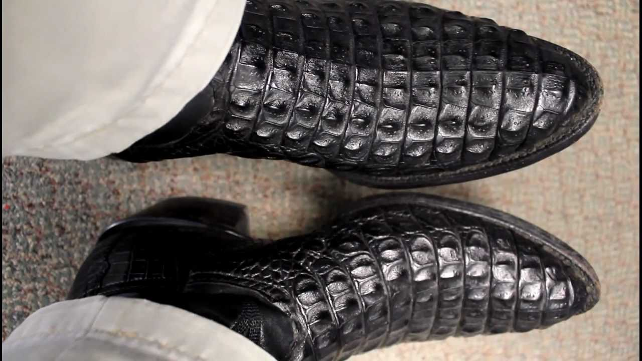 Black Nile Crocodile Boots Youtube