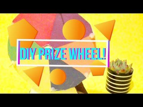 DIY Spinning wheel easy | Cardboard crafts | Prize wheel