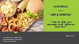 ACID REFLUX - Diet & Lifestyle